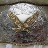 Пряжка на ремень ковбойская Montana Silversmiths
