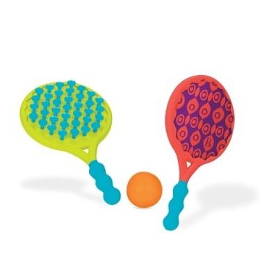 Battat баттат игровой набор пляжный теннис два-в-одном ракетки с присосками, мячик фото №1