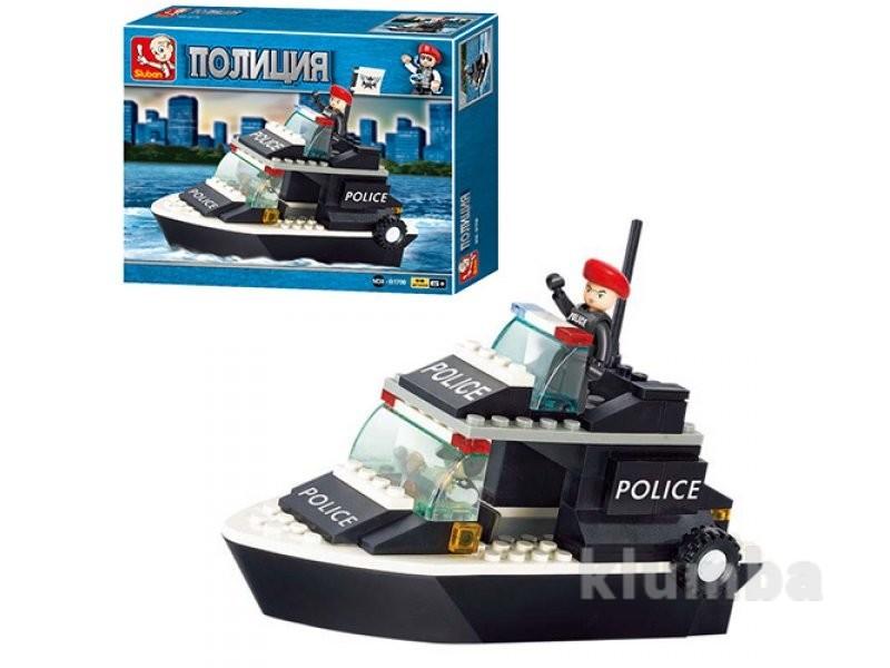 Конструктор полиция катер sluban m38-b1700 полиция фото №1