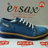 Ersax мужские джинсовые новые летние туфли, мокaсины кеды 40,41, 42, 43, 44, 45,46 Турция Киев