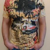 мужская стильная футболка 19053