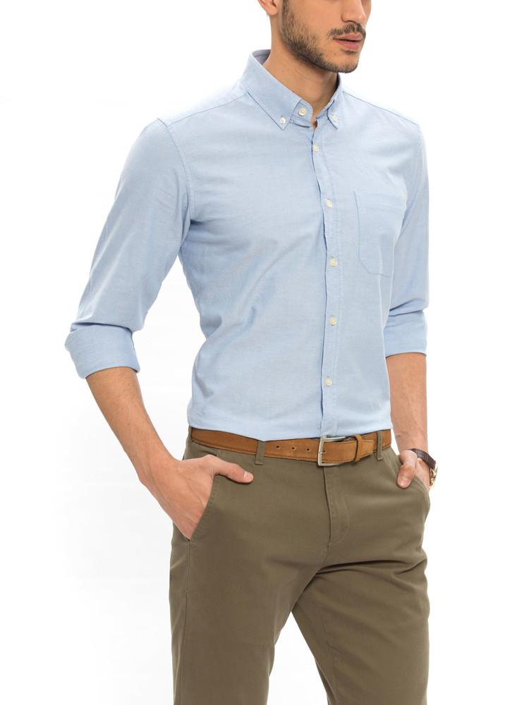 16-102 Мужская рубашка / lc waikiki / чоловічий одяг / школьная форма фото №1