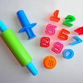 Формочки шприц скалка для лепки пластилина теста формы цифры