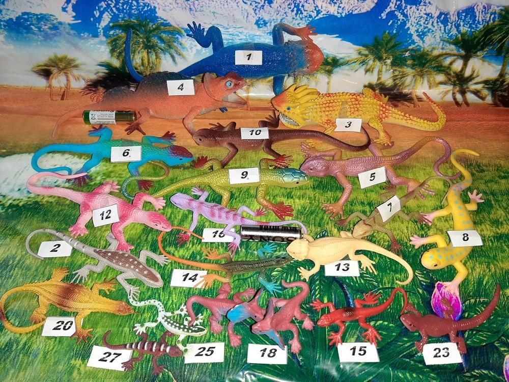 Резиновые животные: фигурки животных - ящерица, лягушка, скорпион, змея, паук, жук фото №1
