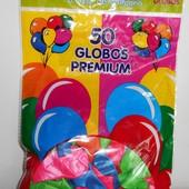 Надувные шарики 10 дюймов 50 штук в пакете