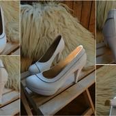Новые свадебные туфли, сток,р-р 39-40
