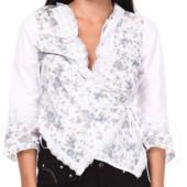 Распродажа - Блуза  хлопок с шитьем  от  Elettl школу школьная форма стрейч эластан