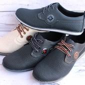 Летние мужские кожаные туфли, разные модели и цвета