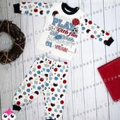 Пижама костюмик 68 на мальчика, приятная к телу, 6 месяцев, 1 год, 100% хлопок Турция
