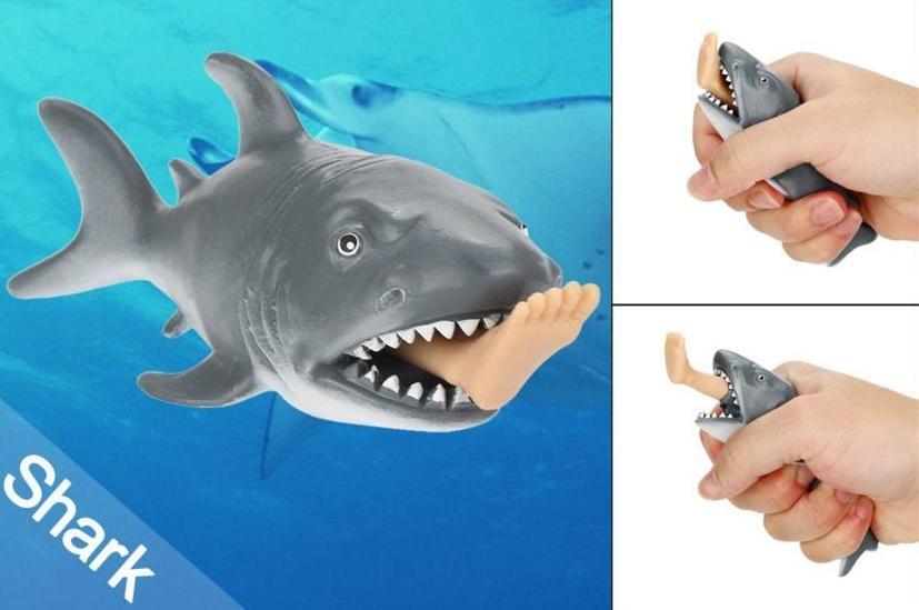 Игрушка- прикол, акула с ногой в пасти, игрушка антистресс фото №1