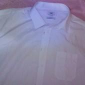 Рубашка, шведка мужская белая F&F Бангладеш 18размер