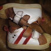 Кожаные туфельки-кроссовочки Woeffies размер 21, стелька 13,5 см