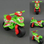 Байк Спорт Мотоцикл Фламинго зелено-красный 0138/50 беговел велобег