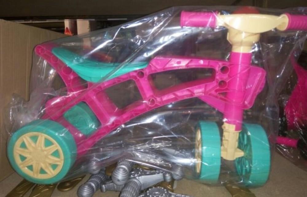 Ролоцикл 4 колеса розовый технок 3824 беговел пластиковый фото №7