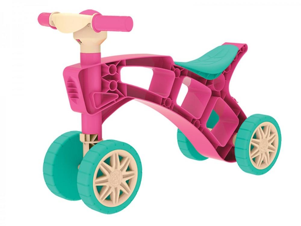 Роллоцикл 4 колеса розовый Технок 3824 беговел пластиковый фото №1