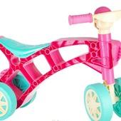 Роллоцикл 4 колеса розовый Технок 3824 беговел пластиковый