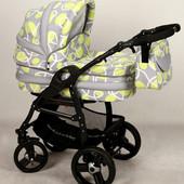 +видео! Универсальная коляска Anmar Hilux 50 цвет Лимонно-серый