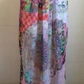 Шифоновая длинная юбка с принтом