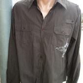 Фірмова стильная рубашка  сорочка бренд John devin.л .