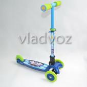 Детский самокат регулируется ручка 4kids scooter до 30кг синий от 3-х лет