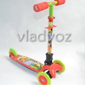 Детский самокат регулируется ручка 4kids scooter до 30кг красный от 3-х лет