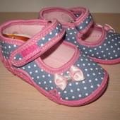 Текстильные тапочки Vi-gga-mi для девочки, Agatka тапки, домашние р. 18-27 вигами viggami