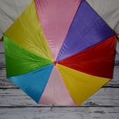 Зонтик зонт детский трость с яркими полосами под все наряды