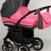 +видео! Универсальная коляска Anmar Zico 12 цвет Розовый