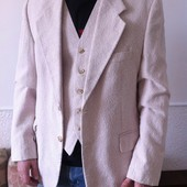 Пиджак и жилет (двойка) лен