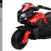 Детский мотоцикл Красный (CT919-R) с кожаным сиденьем