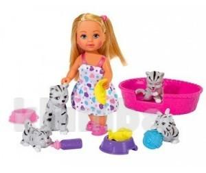 Кукла еви с животными фото №1