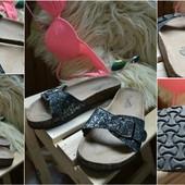 Кожаные шлепки-сандалии  Janessa ,р-р 38-39