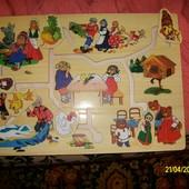Деревянные  игрушки  - лабиринт, дроби, бродилка