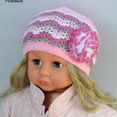 шапка,шапочка для девочки ажурная 1-2 года и 2-7 лет