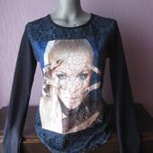 Синий свитер, размер М