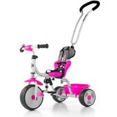 Велосипед 3х колёсный с родительской ручкой M.Mally Boby 2015 с подножкой (pink)