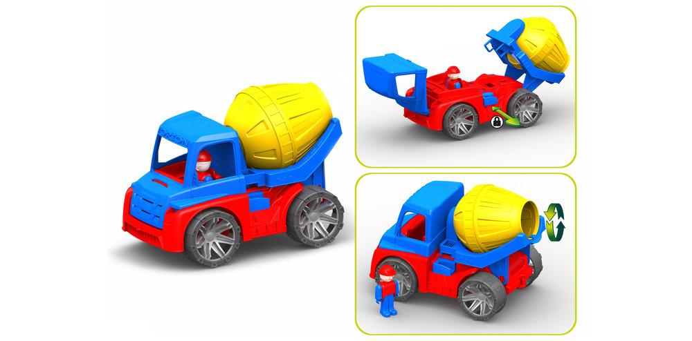 Автомобиль бетономешалка, 27x18,5х16 см ,орион  фото №1