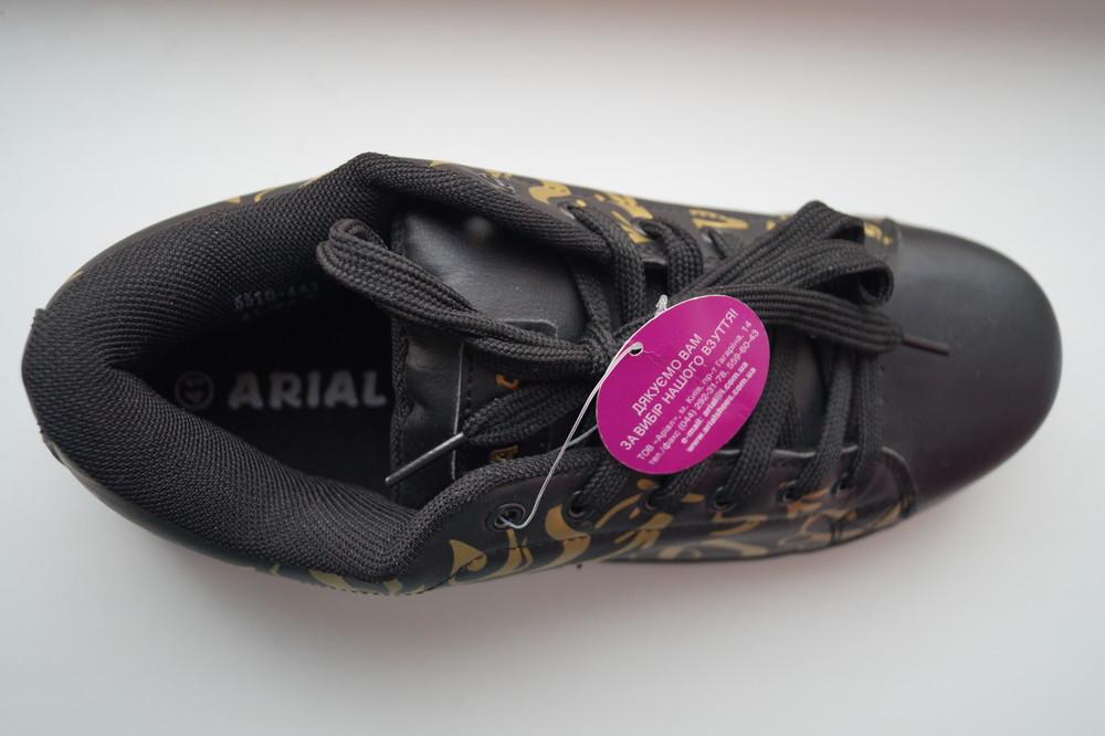 Кроссовки черные с принтом новые р. 38, 39, 41 фото №4