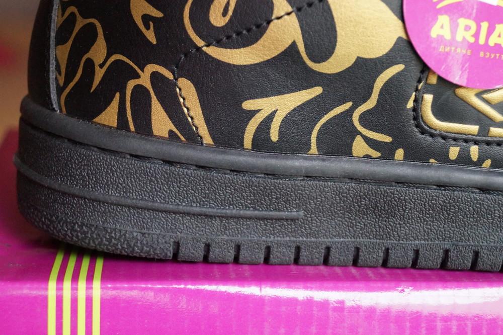 Кроссовки черные с принтом новые р. 38, 39, 41 фото №7
