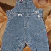 H&M Baby джинсовый комбинезон.сост. отл.рост 62,68,74