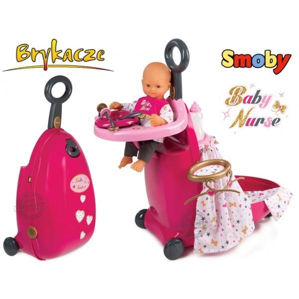 Раскладной чемодан набор для пупса baby nurse smoby франция фото №1
