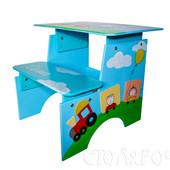 Парта  растишка Именная. Детские столик и стульчик в одном изделии. Авторская работа