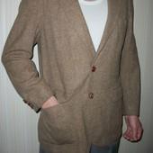пиджак мужской модный с латками замшевыми и пуговицами кожаными