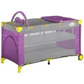 Кровать-манеж детская Bertoni Zippy 2 Layer Plus rose&gray