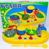 Детская кухня с посудой в коробке