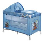 +видео! Кроватка-манеж Bertoni Nanny 2 Layers plus (blue adventure)