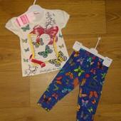 Летний костюм Бабочки р 2 и 3 года