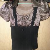 блуза с корсетом.