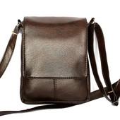 Мужская стильная удобная сумка коричневая (Kot-02)