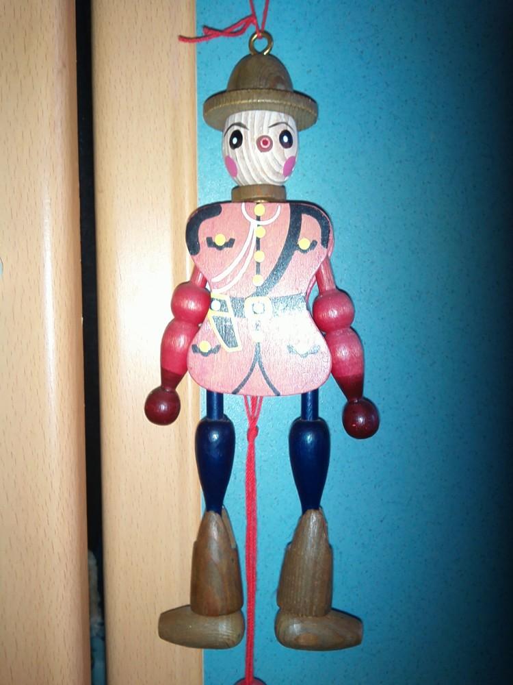 Деревянная игрушка клоун фото №1